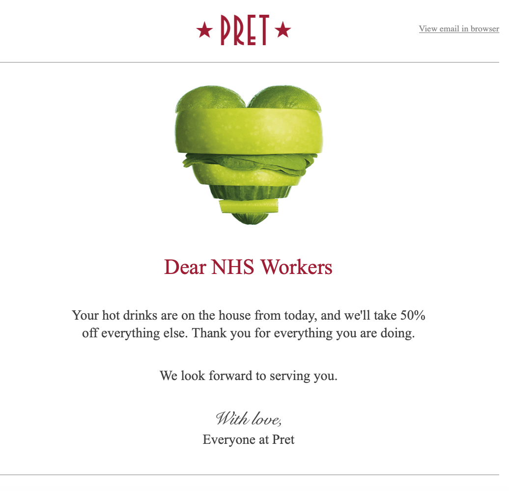 Dear NHS Workers - great communication